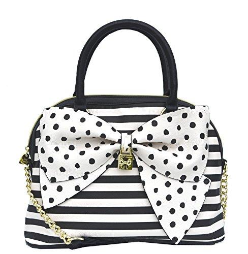 Betsey Johnson Bow Nanza Dome Satchel Purse Shoulder Bag Handbag