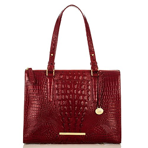 NEW AUTHENTIC BRAHMIN ANYWHERE SHOULDER TOTE (Carmine Red Melbourne)