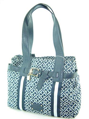 Tommy Hilfiger Pelham Shopper Handbag Navy Blue Multi