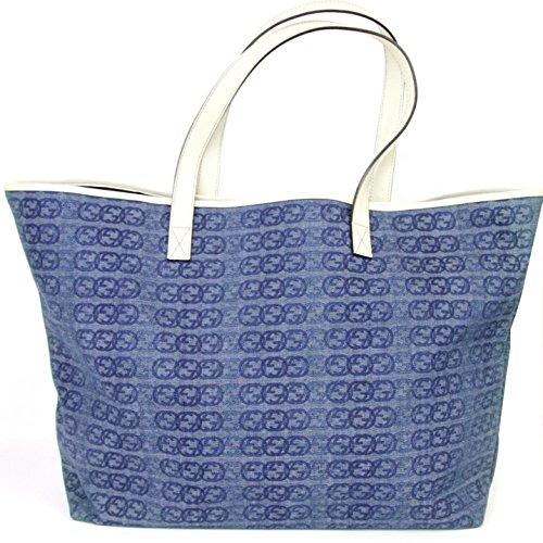 Gucci Blue Denim Tote Bag Handbag 257245