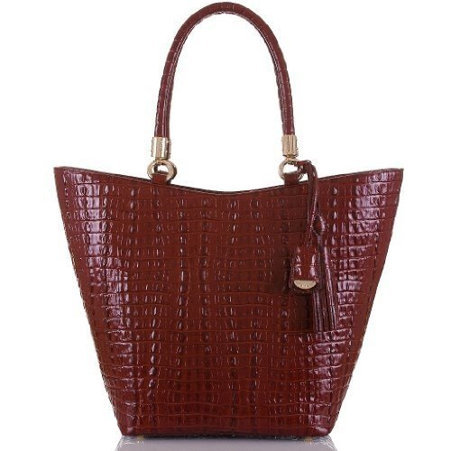Brahmin Sweetheart Tote Cordovan La Scala Bordeaux Red