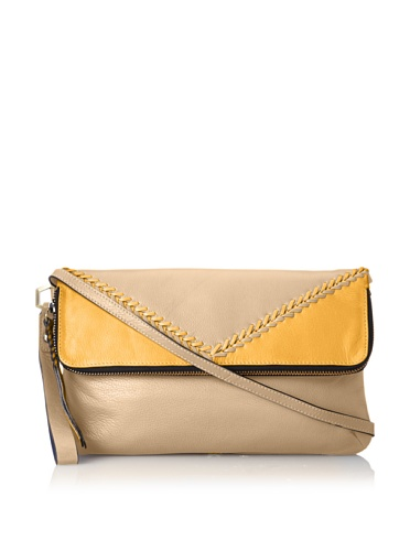 orYANY Alexa Leather Topstitch Fold-over Handbag