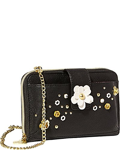 Betsey Johnson Pushing Daisies Phone Case, Black, One Size