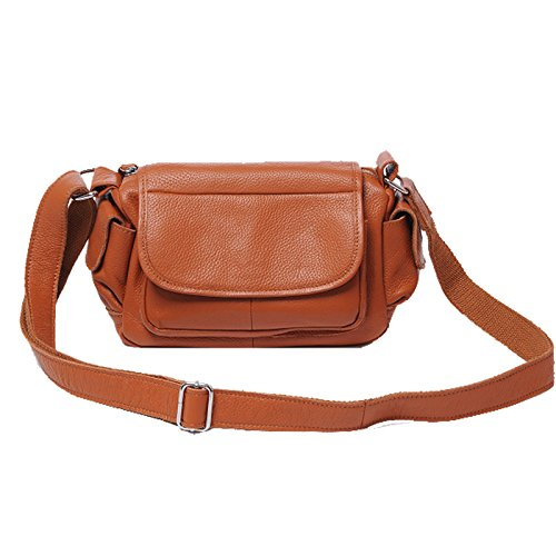 Heshe 2014 New Genuine Leather Hot Vintage Causual Cross-body Shoulder Bag Satchel Zipper Closure Handbag for Women