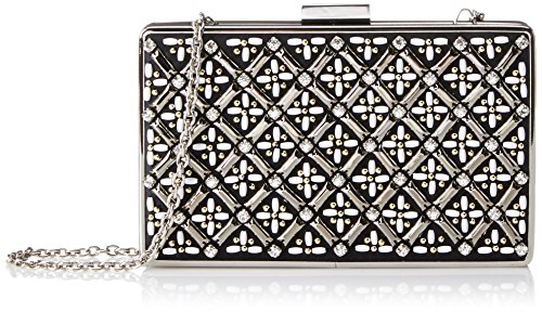 Jessica McClintock Lattice Bead Minaudiere Evening Bag, Black, One Size