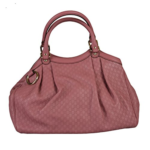 Gucci Women's Pink Leather Guccisima Print Shoulder Handbag Bag