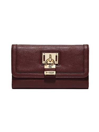 G by GUESS Women's Hugues Lock Checkbook Wallet