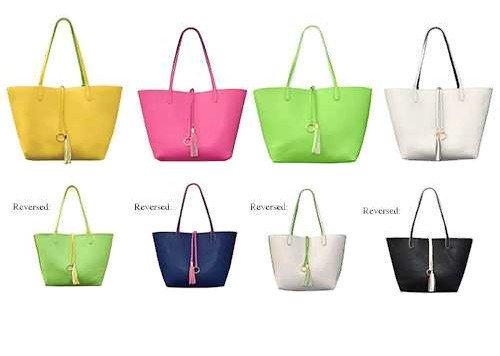 MSC Women's Catalina Reversible Handbag with Coordinating Tassel