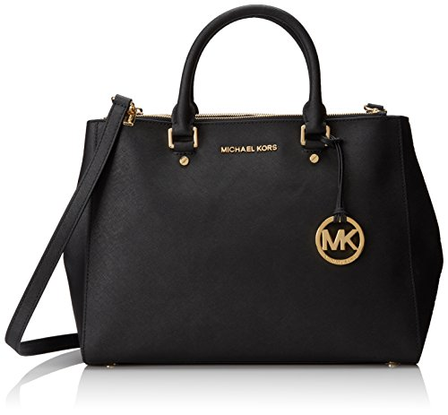 Michael Kors Women's Sutton Large Satchel Leather Top-Handle Tote