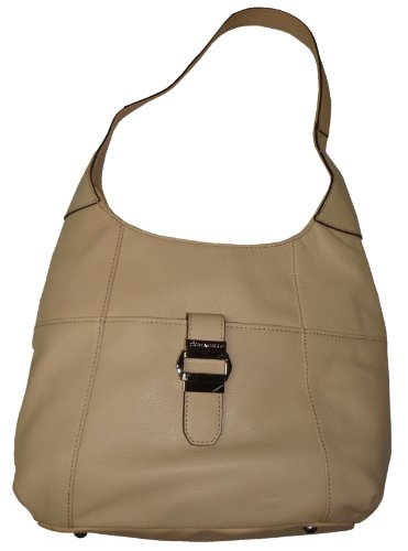 Tignanello Purse Handbag Sleek Statement Hobo Creme Brulee