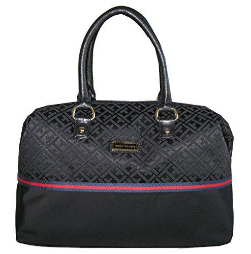 Tommy Hilfiger Canvas Bag Tote Handbag Purse Black