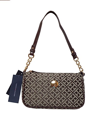Tommy Hilfiger Shoulder Handbag – Signature Tommy Hilfiger – Brn