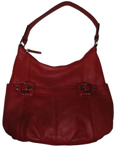 Tignanello Purse Handbag Ellie Hobo Rouge