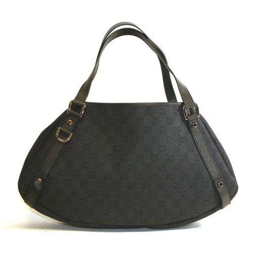 Gucci Black Denim Abbey Hobo