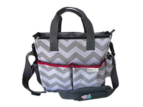 Bula Baby – Stylish Chevron Diaper Tote Organizer Bags – With 12 Pockets To Keep Everything Secure