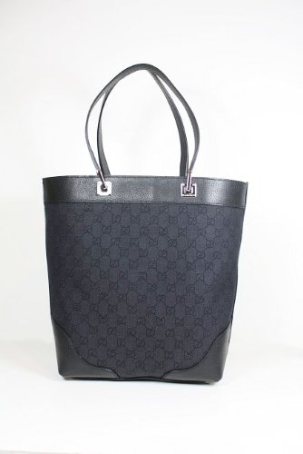 Gucci Handbags Black Canvas and Leather 272377 Purse