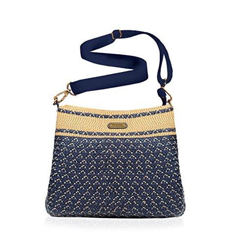 Eric Javits Inc Escape Pouch Handbag – Navy Mix