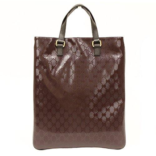 Gucci Burgundy Imprime Leather Portfolio Tote Bag 272347
