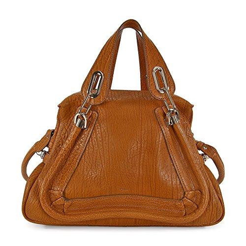 Chloe Paraty Medium Double Satchel Carry Bag – Brown