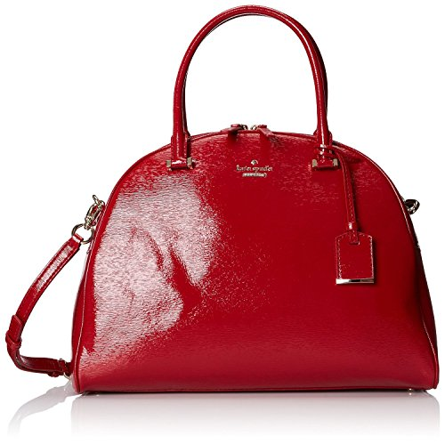 Kate Spade Cedar Street Small Patent Pearl Satchel / Crossbody in Dynasty Red