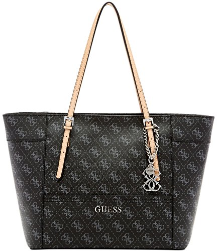 Guess Delaney Signature Small Coal Classic Handbag