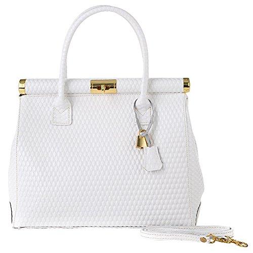 GIULIA Women's Handmade Leather Handbag White