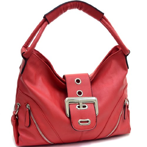 Dasein Classic Fashion Hobo with Zippered Pockets