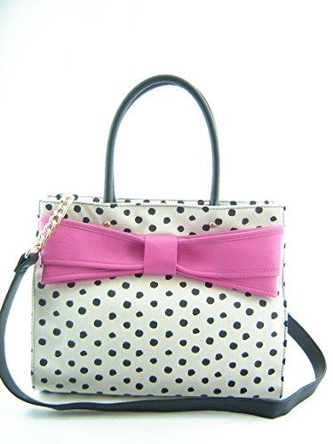 Betsey Johnson Bow Wow Polka Dot Tote Handbag Multi