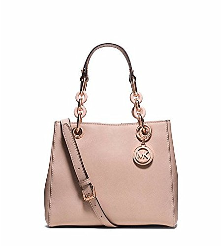 Michael Kors Cynthia Small Leather Satchel in BLUSH