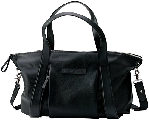 Bugaboo Storksak Diaper Bag – Black Leather