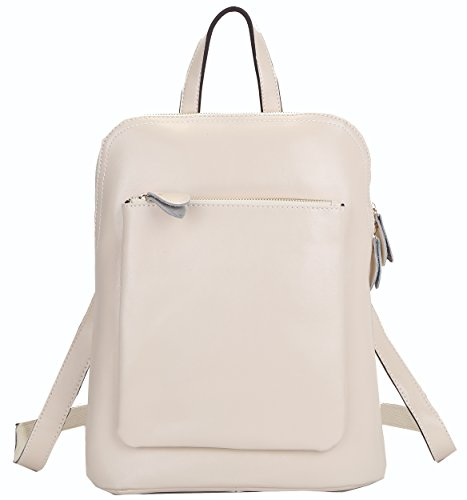 Heshe Fashion Genuine Leather Office Ladies School Girl Backpack Purse Handbag Shoulder Bag