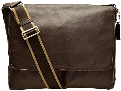 COACH HWL MESSENGER BAG, STYLE: F70556 SV/BR, BROWN