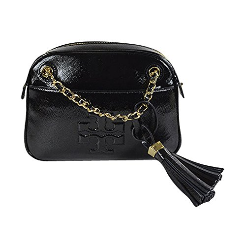 Tory Burch Thea Black Patent Crossbody Leather New
