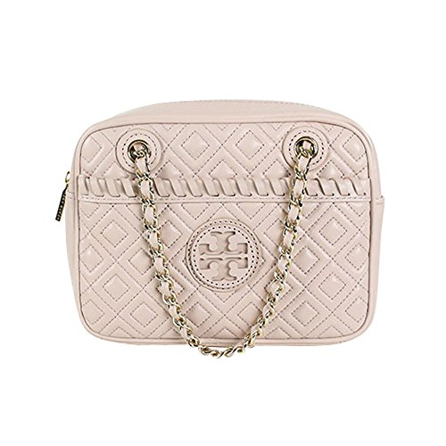 Tory Burch Marion Quilted Chain Crossbody Bag Light Oak
