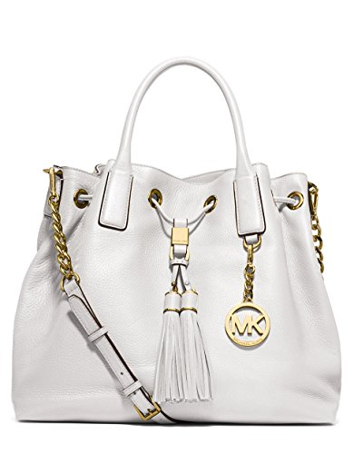 MICHAEL Michael Kors Camden Large Drawstring Satchel Optic White