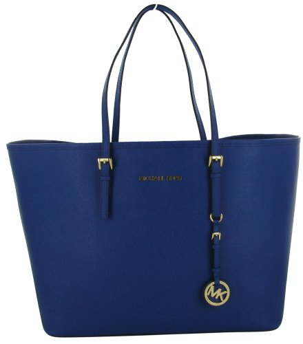 Michael Kors Jet Set Women's Travel Tote Handbag Purse Blue