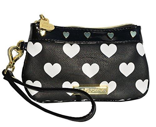 Betsey Johnson Queen of Hearts Wristlet Purse Bag Handbag