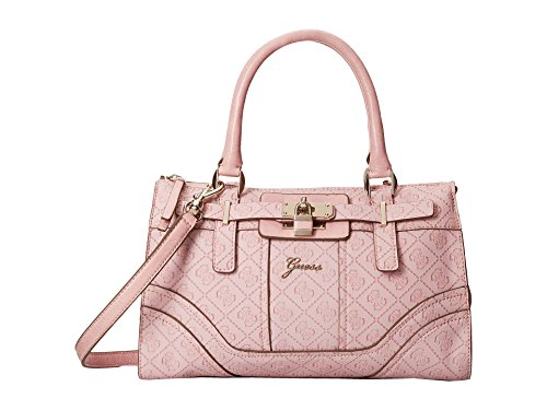 GUESS Women's La Vida Logo Small Satchel Bag Handbag Tote, Pink Rose
