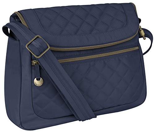 Trv Anti-Theft Quilt Conv Bag W/rfid Wal – Navy