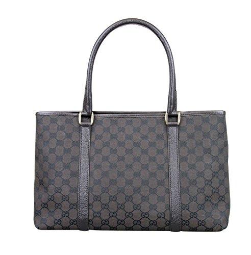 Gucci Brown Canvas Tote Handbag Bag 257302 8890