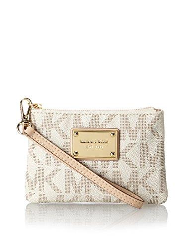Michael Kors Handbag Jet Set Small Signature Wristlet Vanilla