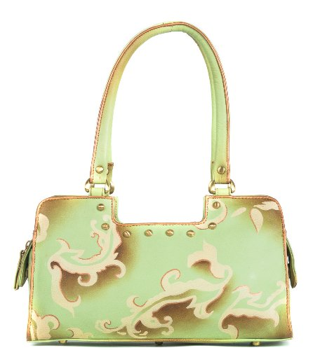 Zimbelmann – Womens Baguette Top – Handle Bag – made of genuine Nappa Leather – multicoloured handpainted – Eveleen