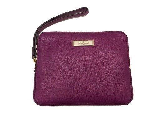 Cole Haan Leather Handbag Wristlet Masquerade Essex Ll Wrist Pouch