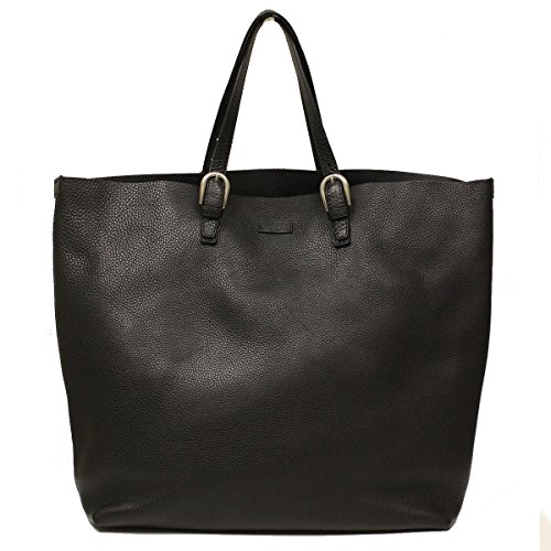 Gucci Soft Black Leather Unisex Tote Bag 293020