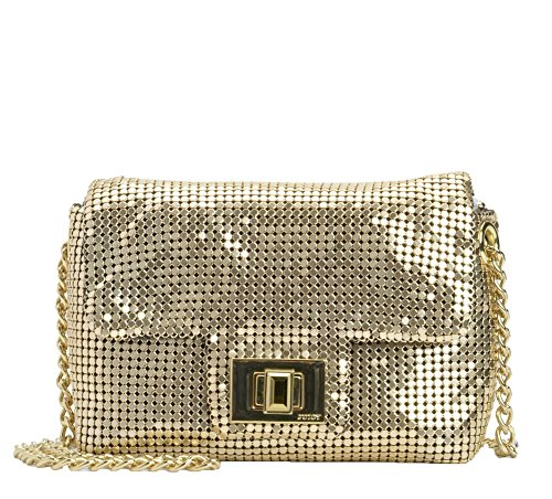 Juicy Couture Beverly Mini G Minaudiere Metal Mesh Evening Bag, Gold
