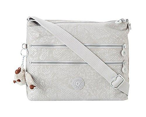 Kipling Alvar Handbag Silver Snake