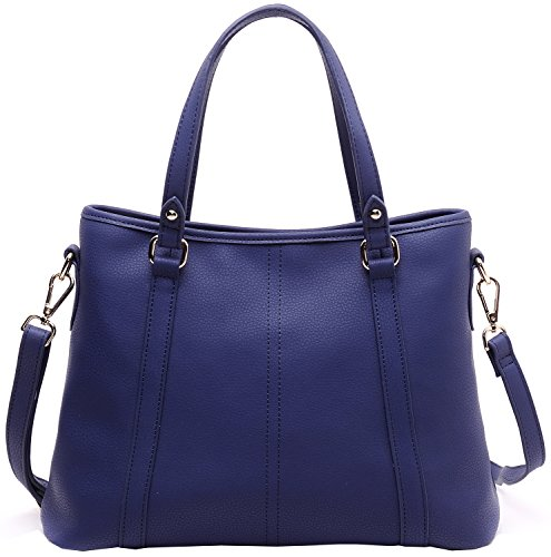 Heshe Fashion Women's Hot Sell Soft Genuine Leather Shoulder Bag Top-handle Tote Cross Body Satchel Multi-purpose Handbag for Ipad Air