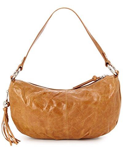 Hobo International Phoebe Leather Shoulder Bag, Caramel,One Size