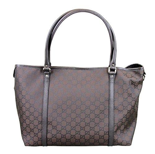 Gucci Medium Brown Nylon Tote Bag Handbag 265695 2092
