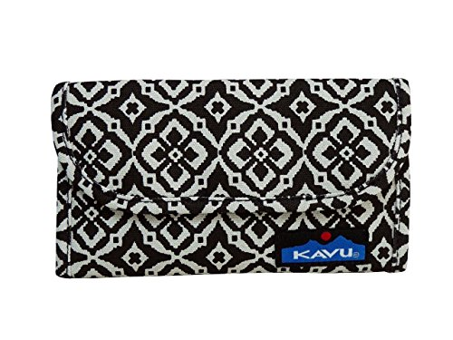 Kavu Women's Big Spender Wallet, Black Mosaic, One Size
